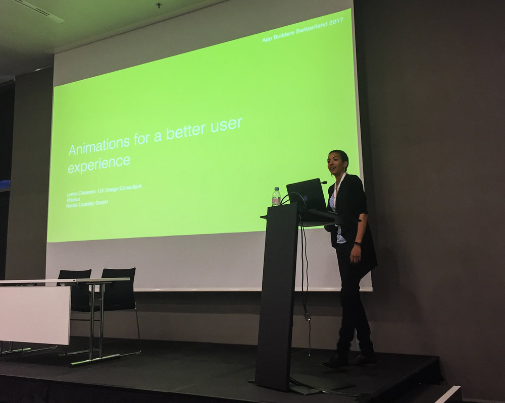 Lorica Claesson - Animations for a better user experience