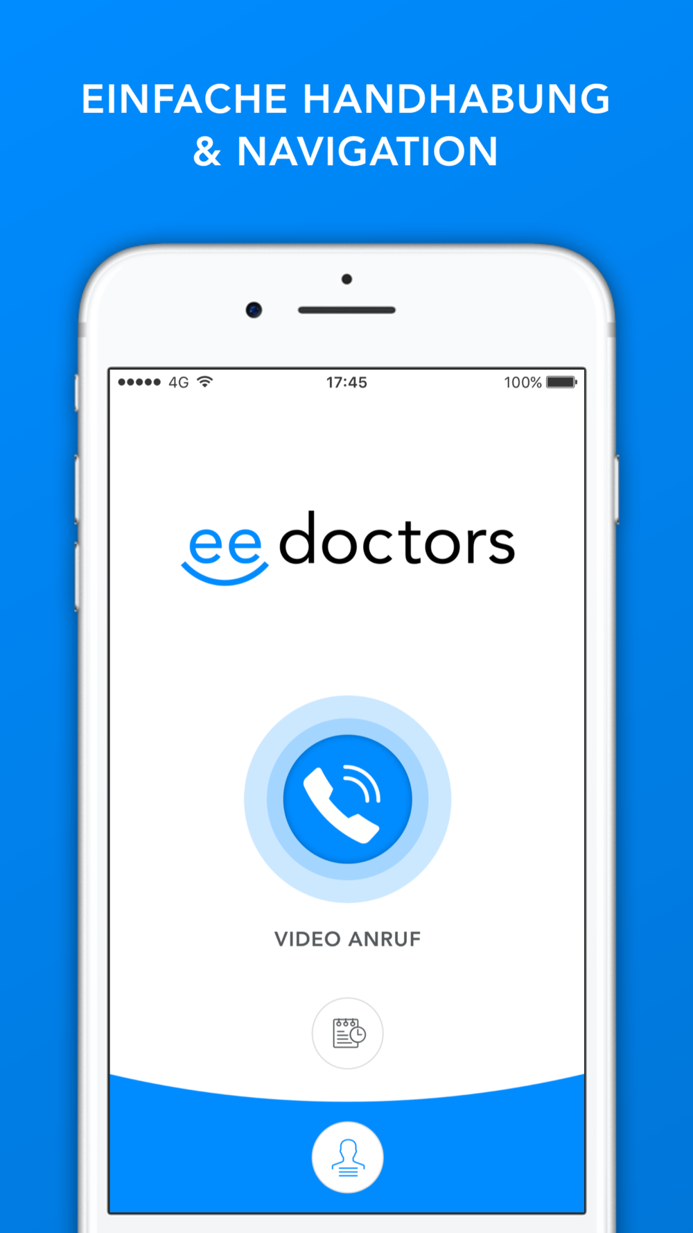 eedoctors App Video-Chat mit Arzt Screen Design by Apps with love
