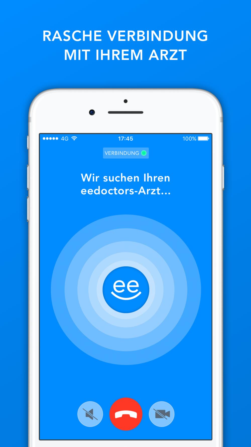 eedoctors App Rufaufbau Bildschirm Design by Apps with love