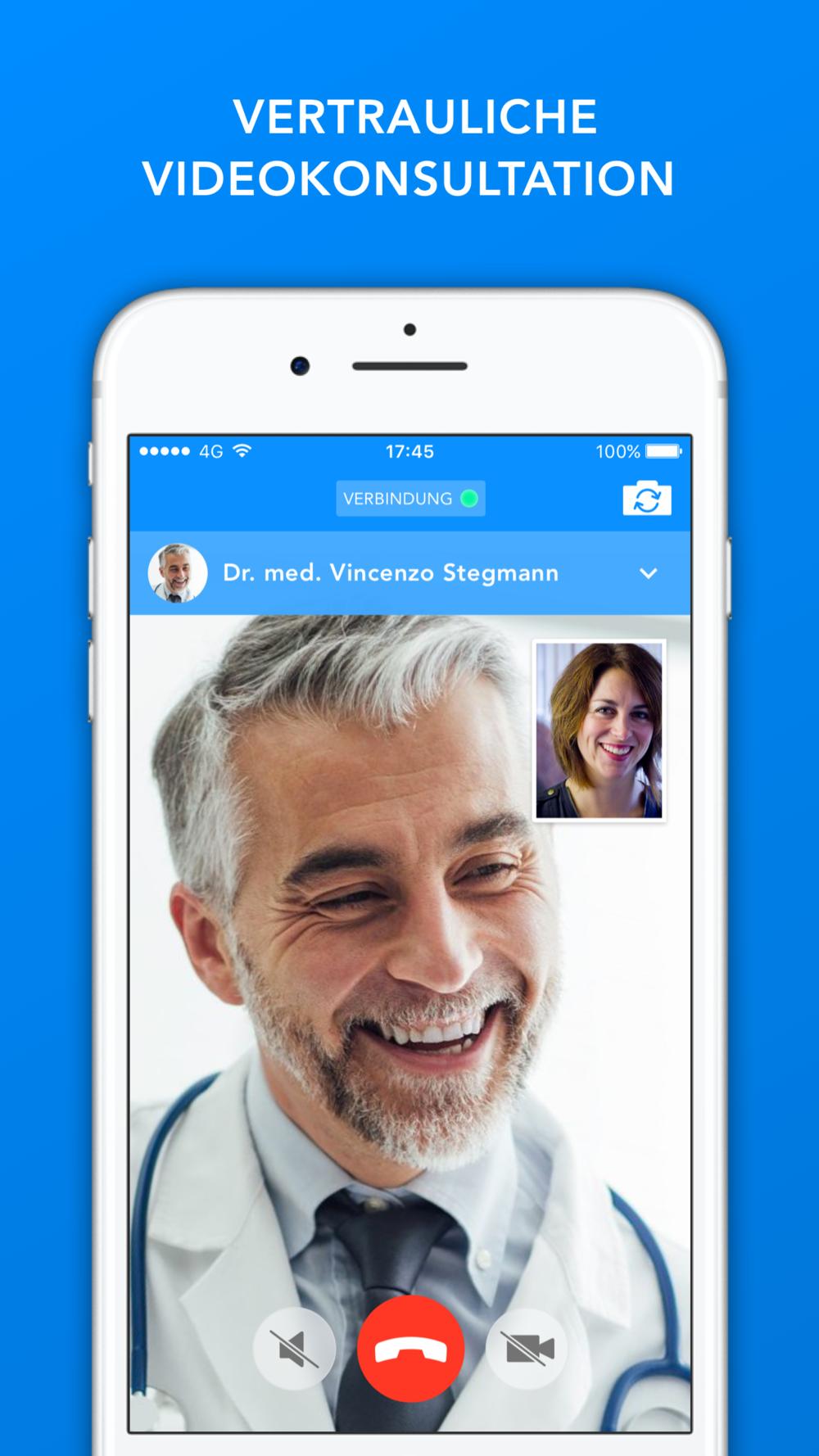 eedoctors App Video-Konsultation Arzt Screendesign by Apps with love