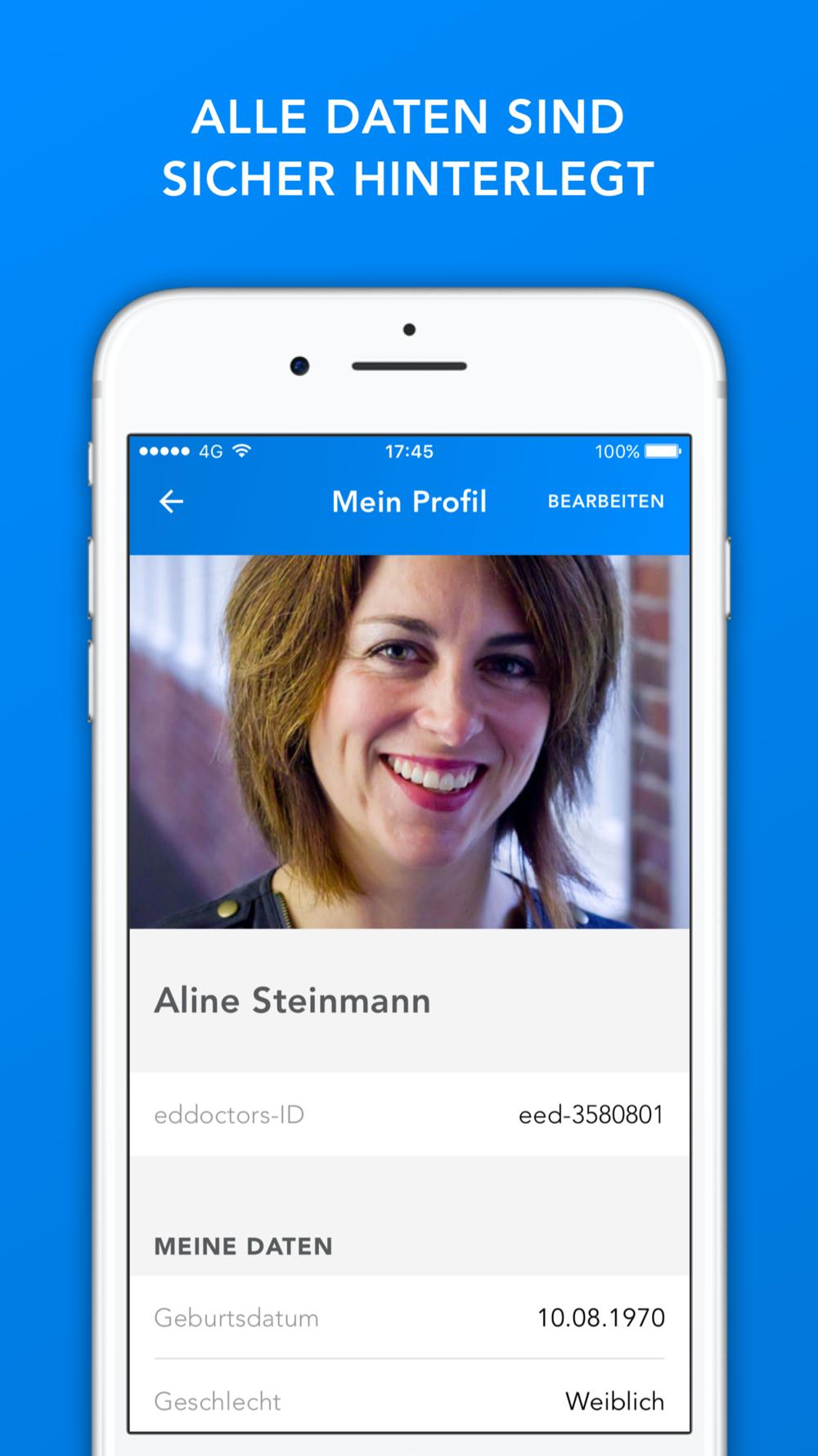 eedoctors App User Profil Design by Apps with love