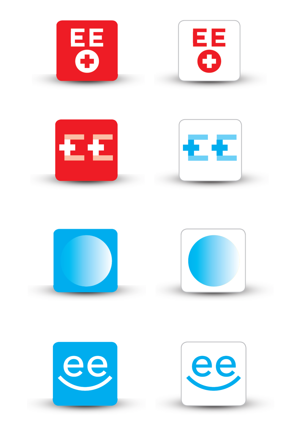 Icon Design Varianten von Joel Weber