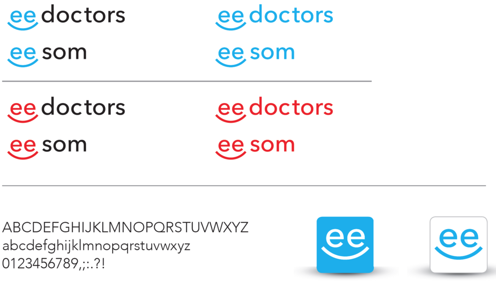 Logo creation process eedoctors by apps with love and joel weber