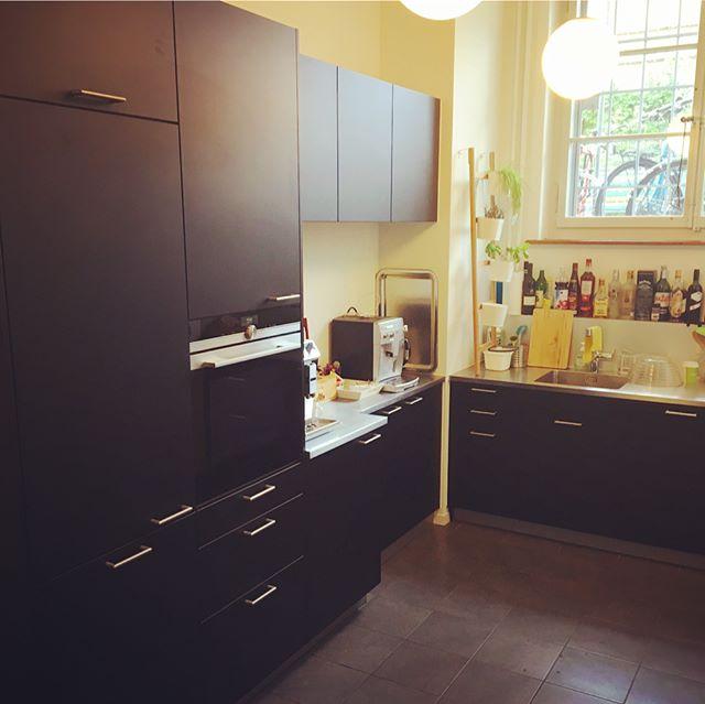 Unsere Küche jetzt und vorher. Wir sind froh! #new #office #kitchen