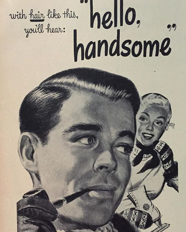 Now you know a secret of being handsome;) Shot from @life magazine 23 Feb, 1948. #life #retro #vintage #handsome #style #vintagemagazine #collection #lifestyle