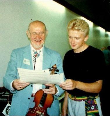 w/John Van Derrick. London 1990