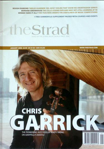 Strad Magazine cover feature