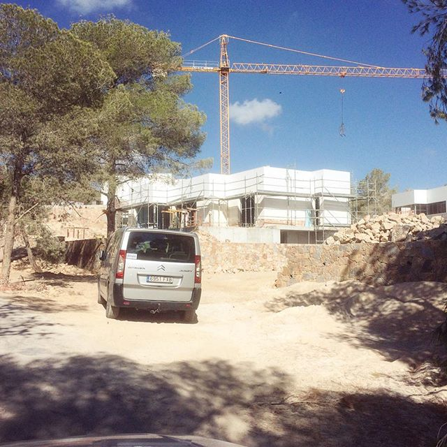 Down at Las Colinas for the holiday villa projects.. #lascolinas #costablanca #geosem #studiops #architecture