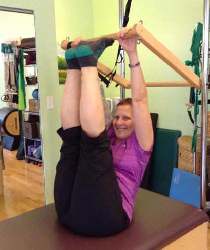 Working on my flexibility Harmony Pilates Studio, Shadyside, PA!