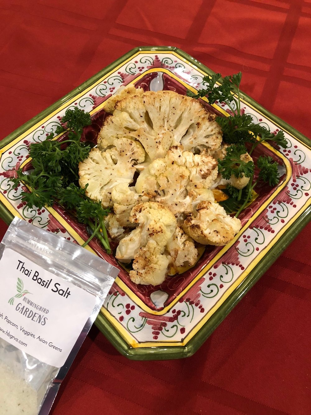 Roasted Cauliflower - with Thai Basil Salt