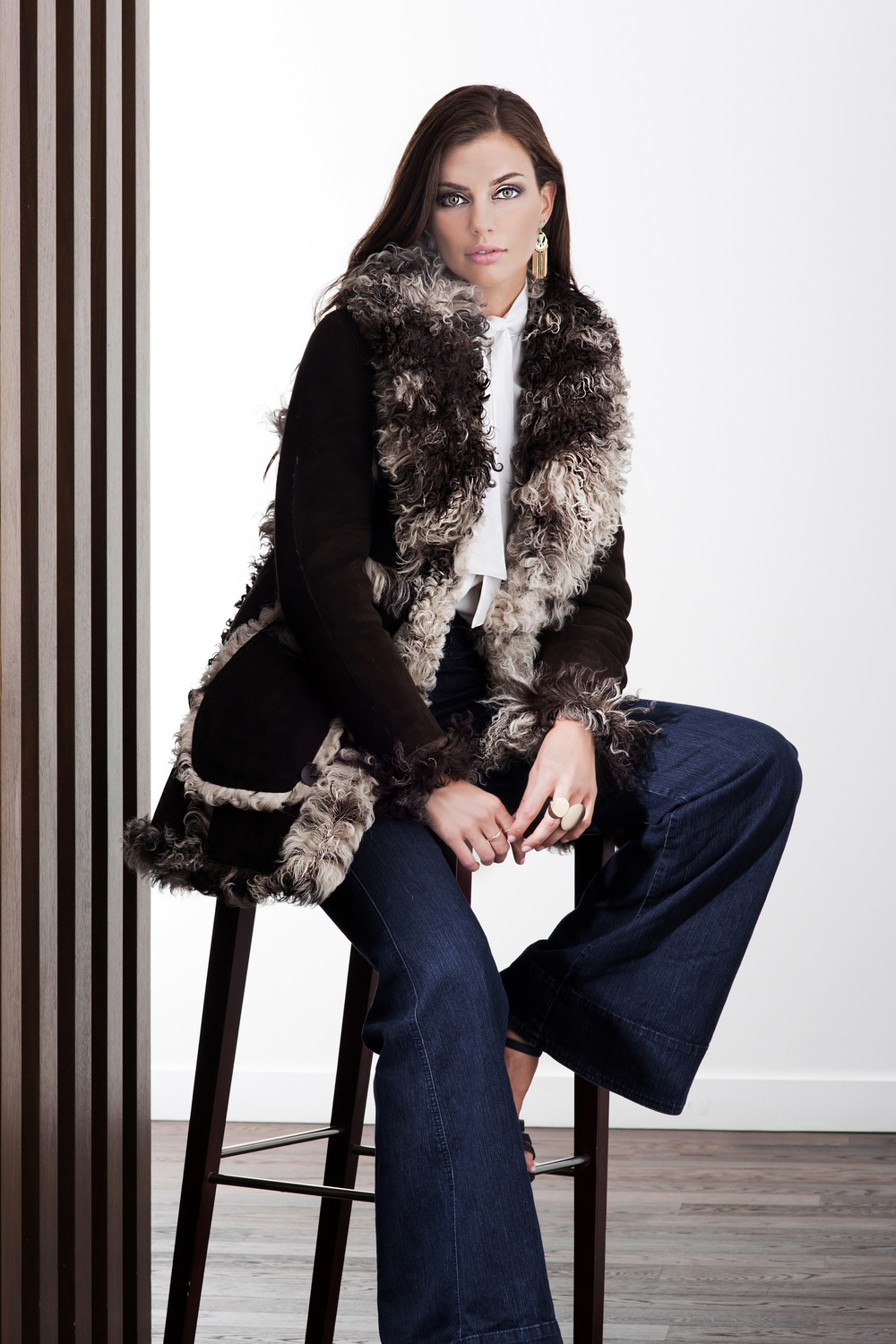Shearling 2016 Carol Gallacher designer for HiSO, Styling: Amber Watkins, Photography: Mike Lewis, Hair and Makeup: Taca Ozawa