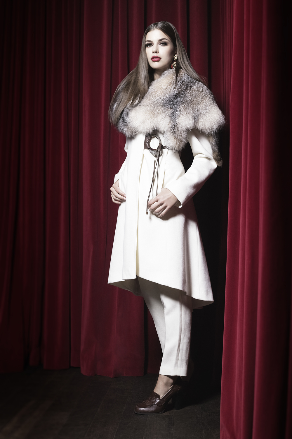Shearling 2015 Design: Carol Gallacher, Styling: Joanna Plisko, Photography: Mike Lewis, Hair and Makeup: Taca Ozawa