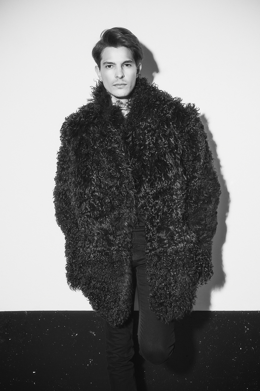Shearling 2015 Carol Gallacher designer for HiSO Styling: Joanna Plisko, Photography: Mike Lewis, Hair and Makeup: Taca Ozawa