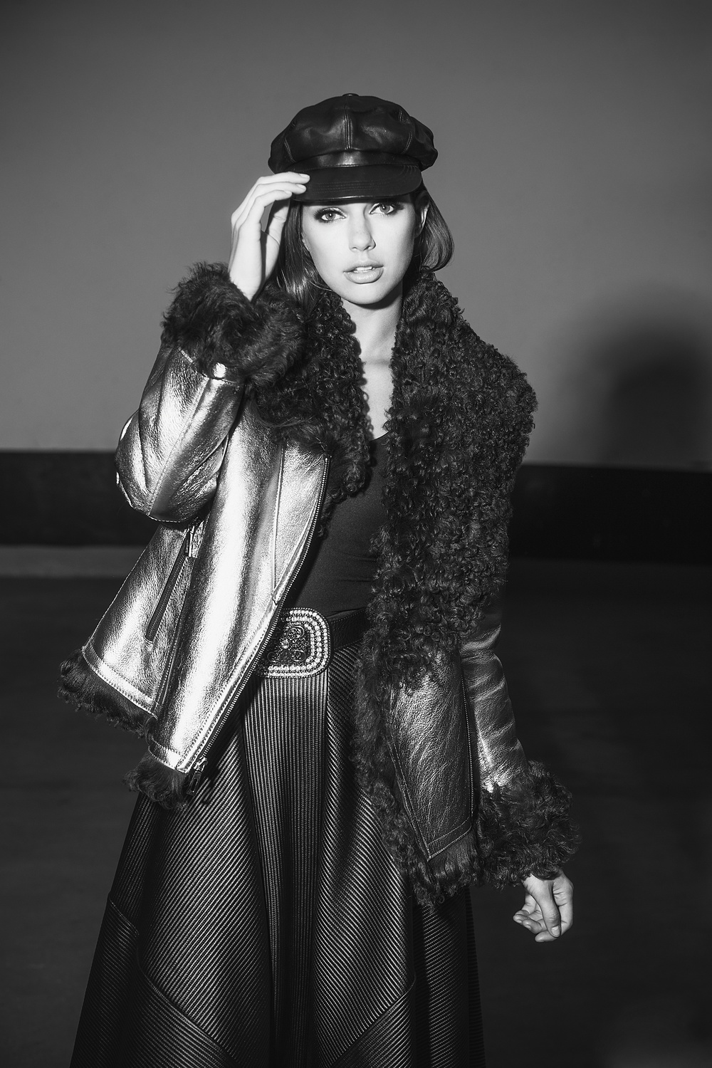 Shearling 2015 Carol Gallacher designer for HiSO, Styling: Joanna Plisko, Photography: Mike Lewis, Hair and Makeup: Taca Ozawa