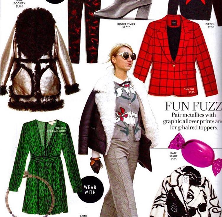 Metallic Bilie Jean as seen in Fashion Magazine October 2015