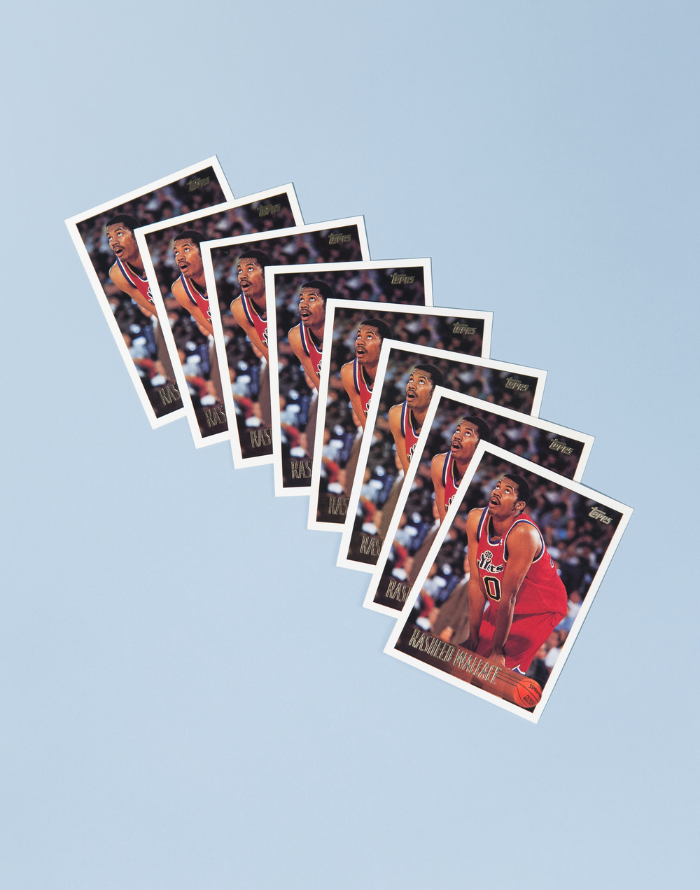 Rasheed Wallace Multiple (Eight Topps 1996-1997 Rasheed Wallace Cards)