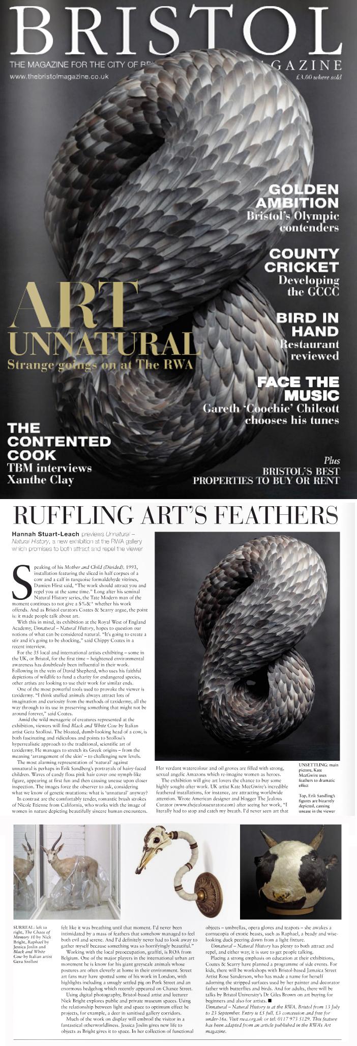 Bristol Magazine, 2012 - Kate MccGwire