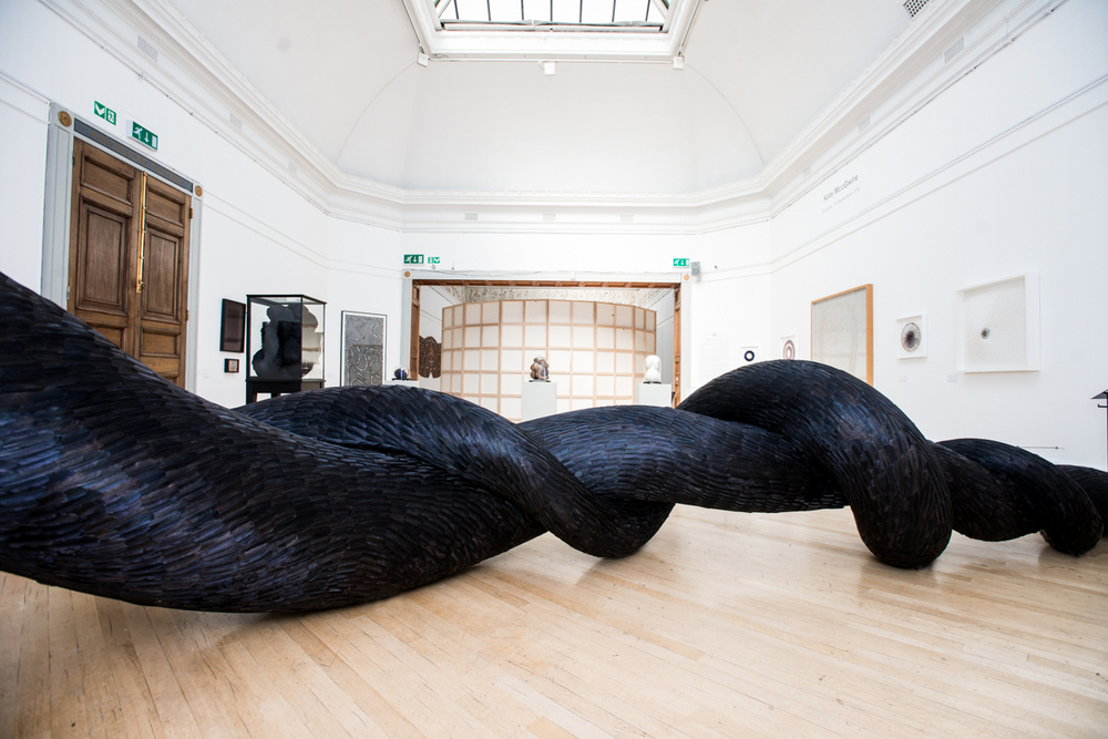 Gyre (Exhibition View), Kate MccGwire, RWA, Bristol  - Photo:  Jon Craig