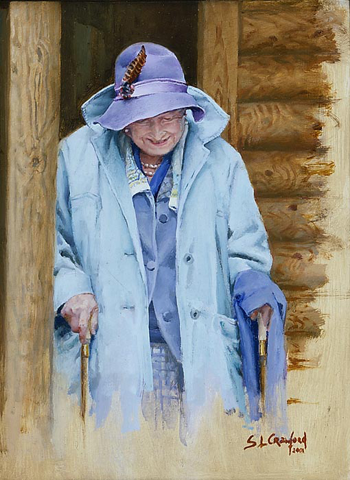 Her Majesty Queen Elizabeth The Queen Mother at Balmoral
