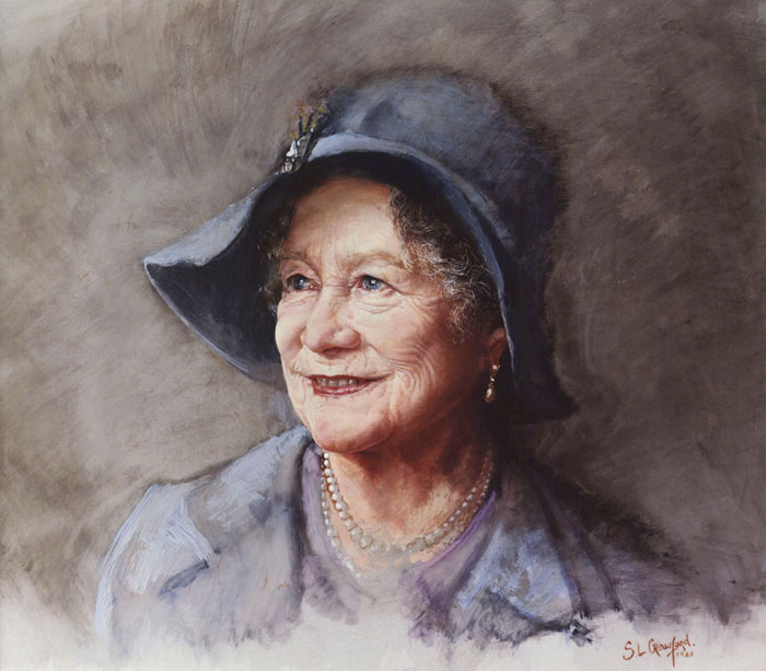 The Blue Hat (HM Queen Elizabeth The Queen Mother)