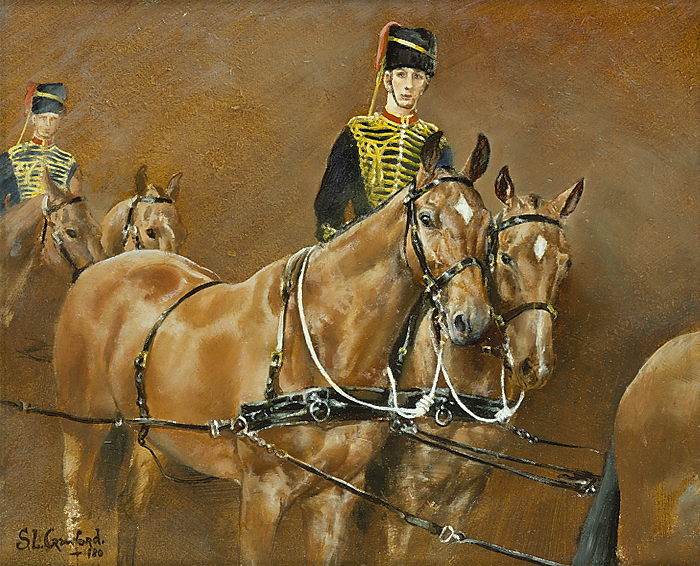 Study of King's Troop Royal Horse Artillery