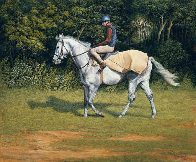 Grey Chaser Exercising