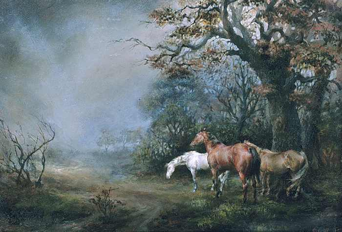 Horses in a Thunder Storm