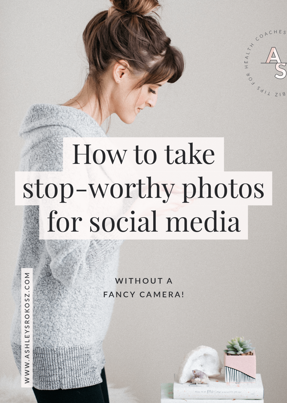 """Have you ever stopped on a beautiful picture on social media and wondered """"how do they DO that?!"""". Social media photography isn't as hard as you think, even when you're a nutritionist or health coach. Click here for 4 steps to taking beautiful photos for social media in less than 5 minutes (without a fancy camera). #healthcoach #healthcoachbusiness #nutritionist #nutritionbusiness #becomeahealthcoach"""