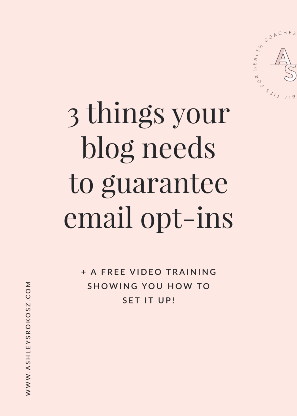 Are you blogging for your holistic health business and not growing your email list? Click here to learn the 3 things you must have on your blog to guarantee e-mail opt-ins PLUS a free video training showing you how to set it all up! This is perfect for holistic nutritionists, health coaches, or yoga teachers.