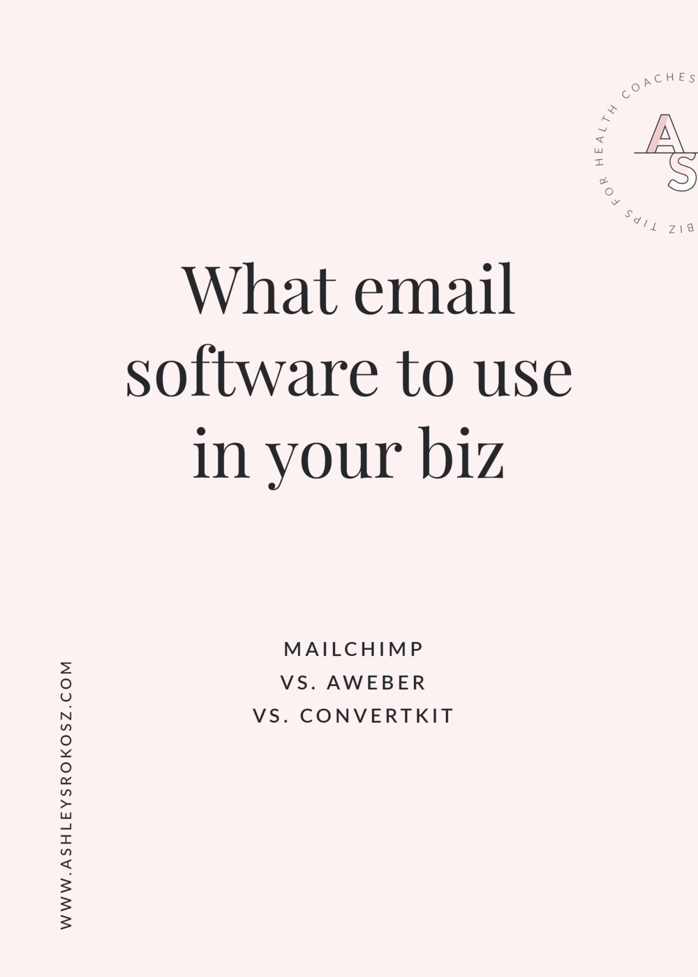 What email SOFTWARE should you use in your business: MailChimp, AWeber, or ConvertKit? Click to get the complete breakdown of each platform, plus a free video showing you all about ConvertKit. This is perfect for holistic nutritionists, health coaches, yoga teachers, naturopaths, and chiropractors!