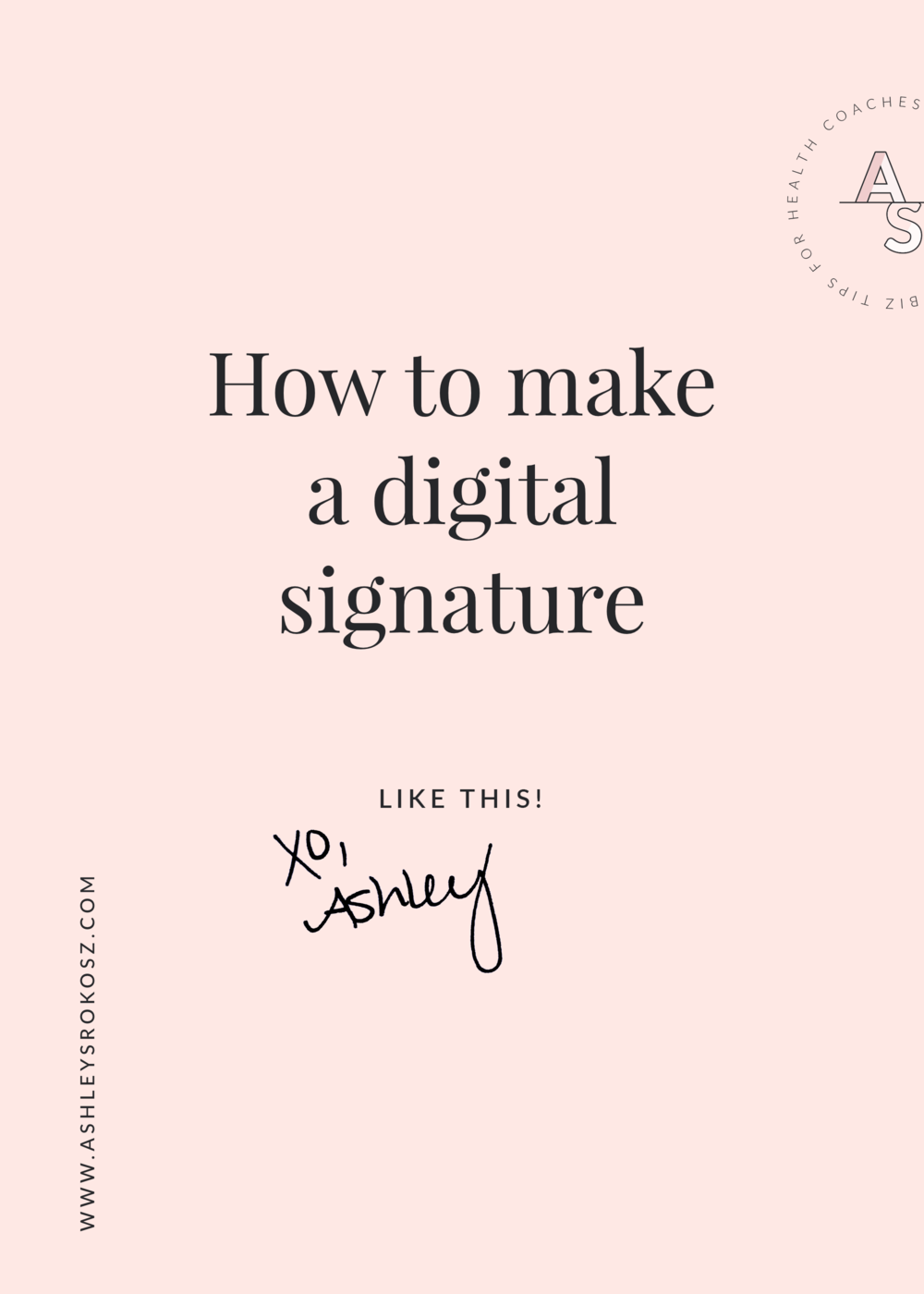 Have you wondered how to make a digital signature like what you see on websites and at the bottom of email newsletters?Click here to see the step-by-step video tutorial showing you how to make a digital signature in less than 5 minutes!This is perfect for holistic nutritionists, health coaches, essential oil business owners, or yoga teachers.