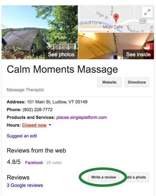 Reviews Calm Moments Massage Studio