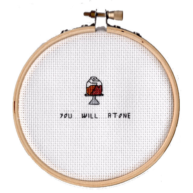 You will atone.