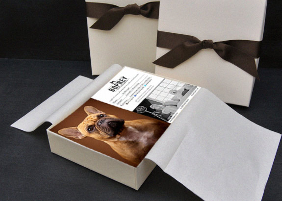 Every gift certificate is delivered in an elegant, ready-to-present boutique package.