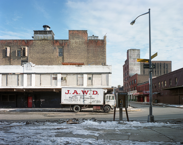 """Washington and Little West 12th Street, 1985"" from the series Metamorphosis: Meatpacking District 1985 + 2013"