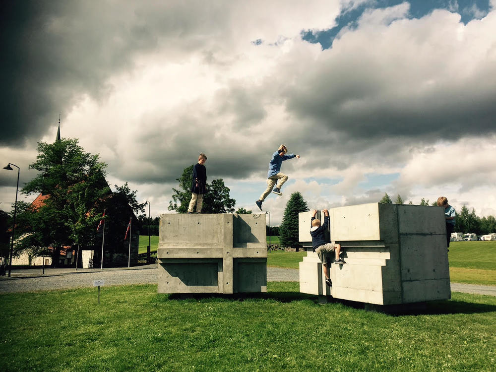 Installation at Stiklestad Nasjonale Kultursenter Battlefield in Norway, 2015