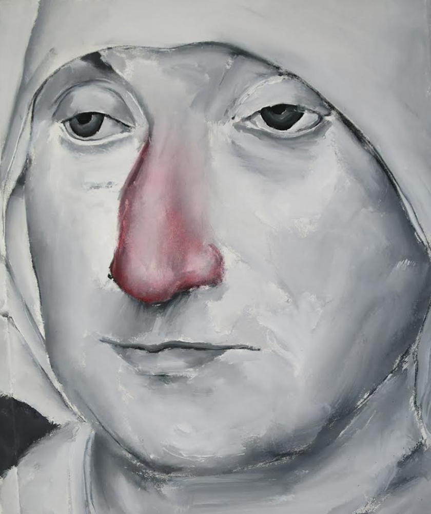 Untitled (Old woman red nose), 2015