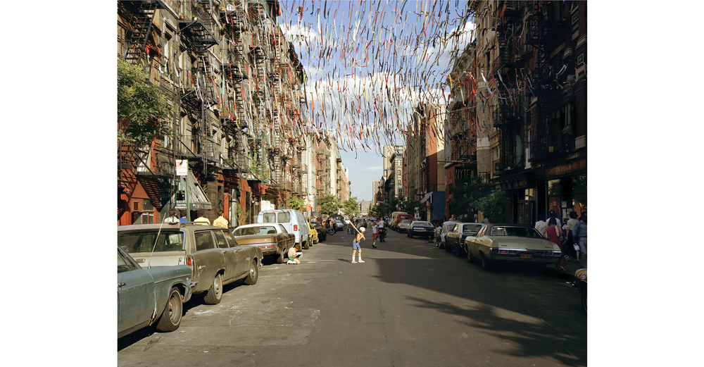 """East 4th Street, 1980"" from the series Time and Space on the Lower East Side 1980 + 2010"