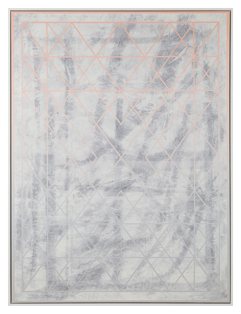 Steven MacIver Linear Extractions Oil on canvas 48 x 36 in.