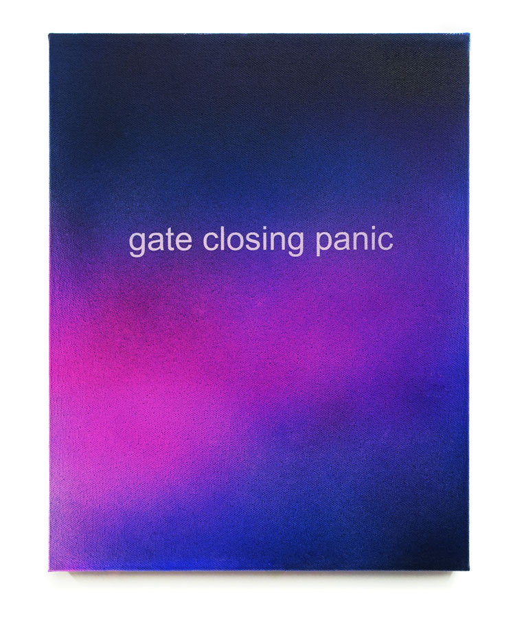 Allison Wade  Gate Closing Panic  Acrylic on canvas 11 x 14 in.