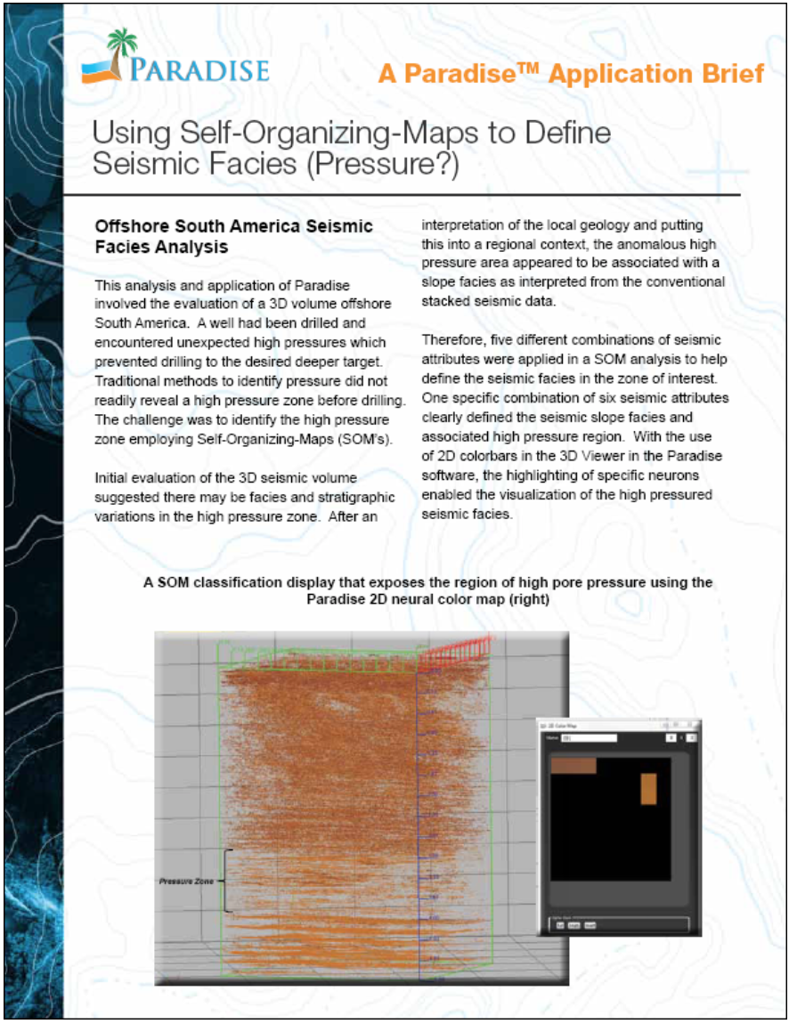 Using the Self-Organizing Map (SOM) analysis to enhance conventional seismic interpretation to reveal anomolies.