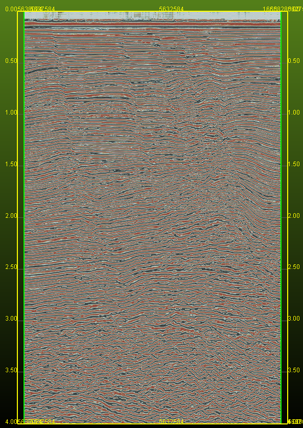 Vertical display of Normalized Amplitude