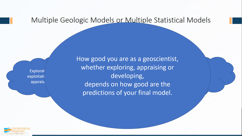 So how good you are as a geoscientist depends, fundamentally, on how good are your predictions of your final model? That's what we do. Whether you want to think about it like that or not, that's really the bottom line.