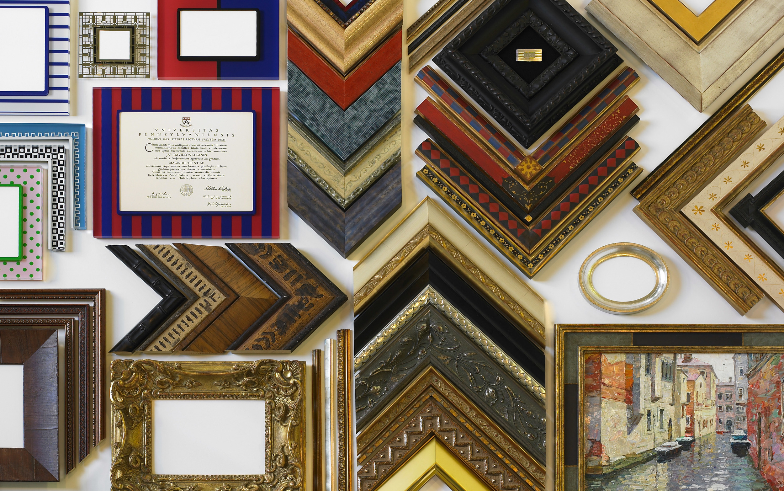 custom framing art production interiors