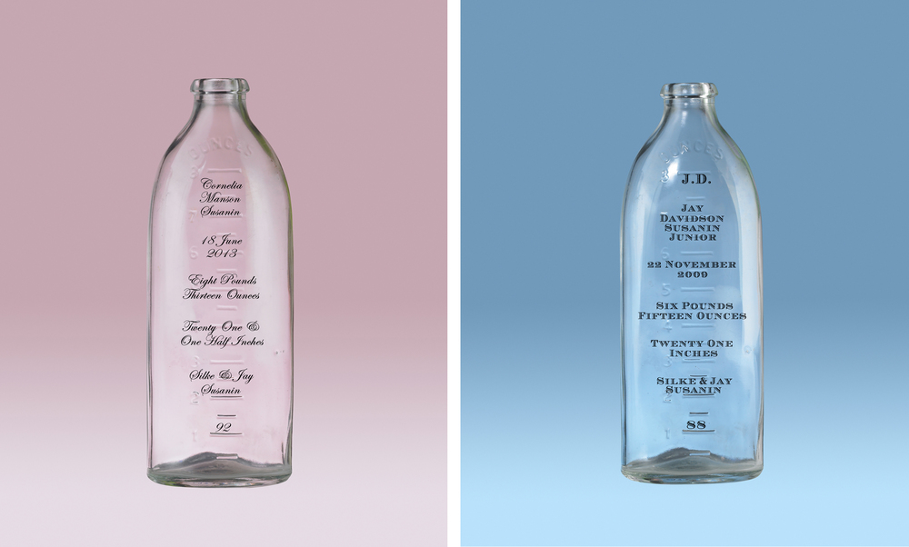 Baby Bottle Birth Announcements