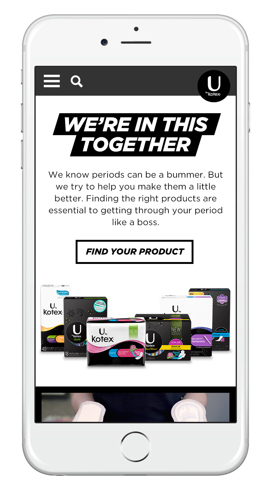 U By Kotex Experience Is Everything