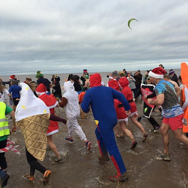 Charity Christmas Day swim at Hunstanton!