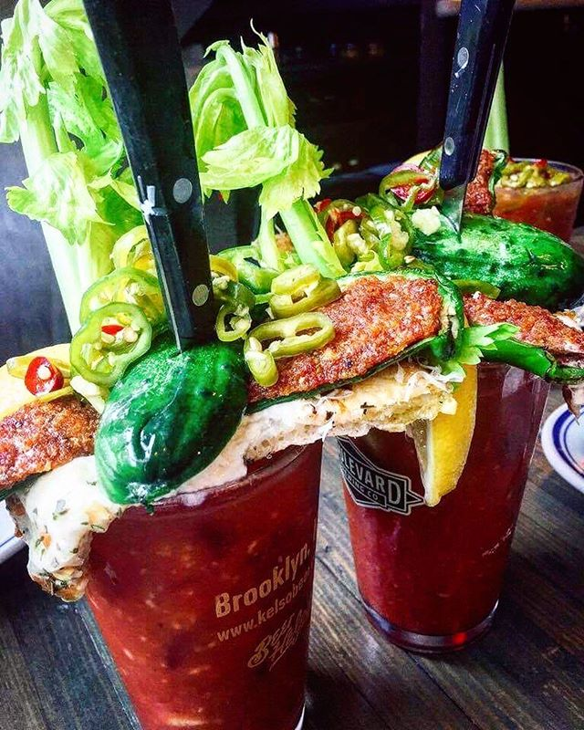 The only way to start the weekend 🙏🏼 @speedyromeo #bloodymary #newyorkfoodbabes
