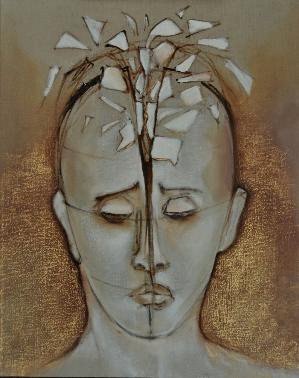 Head I  /Oil on Linen 50 x 40 cm  2012