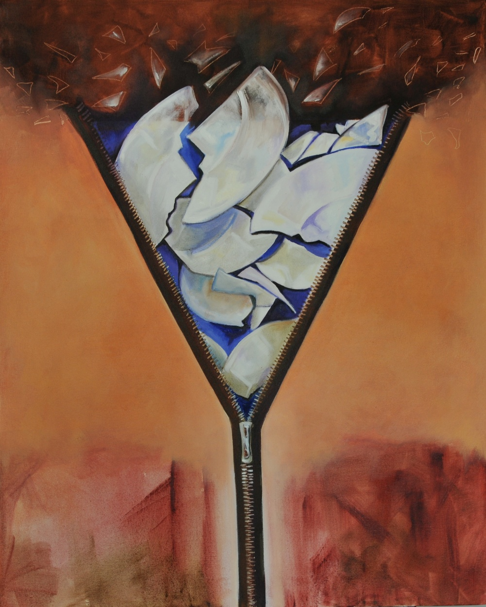 Zip Over Oil on Canvas 100 x 90 cm 2012
